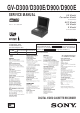Sony GV-D300 Service Manual