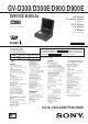Sony GV-D300 Service Manual