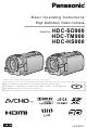 Panasonic HDC-SD900 Basic Operating Instructions Manual