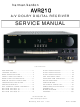 Harman Kardon AVR210 Service Manual