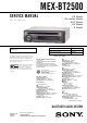 Sony MEX-BT2500 Service Manual