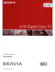 Sony Bravia KDL-52XBR7 Operating Instructions Manual