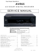 Harman Kardon AVR65 Service Manual