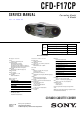 Sony CFD-F17CP Service Manual