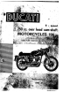Ducati 250 Mark 3 1965 Instructions For Use And Maintenance Manual