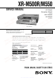 Sony XR-M500R Service Manual