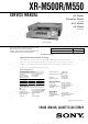 Sony XR-M500R Service Manual
