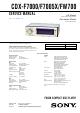 Sony CDX-F7000 Service Manual