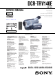 Sony DCR-TRV140E Service Manual