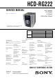 Sony HCD-RG222 Service Manual
