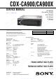 Sony CDX-CA900 Service Manual