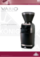 Baratza Vario Operating Instructions Manual
