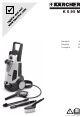Karcher K 6.95 M Assembly And User Instructions Manual