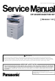 how to stop cover page panasonic 8020 fax