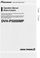 Pioneer DVH-P5000MP Operation Manual