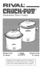 monier crock pot instruction manual