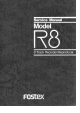 Fostex R8 Service Manual