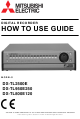 Mitsubishi Electric DX-TL2500E How To Use Manual