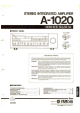 Yamaha A-1020 Service Manual