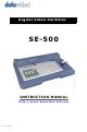 Datavideo SE-500 Instruction Manual