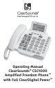 ClearSounds CSC1000 Operating Manual