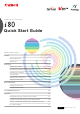 Canon i80 Quick Start Manual