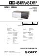 Sony CDX-454RF Service Manual