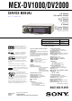 Sony MEX-DV1000 Service Manual