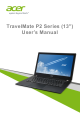 Acer TravelMate P2 Series User Manual