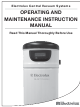Electrolux Quiet Clean PU3650 Operating And Maintenance Instruction Manual