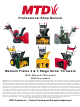 MTD 500 series Shop Manual