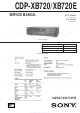 Sony CDP-XB720 Service Manual