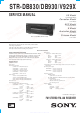 Sony STR-DB830 Service Manual