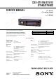 Sony CDX-GT51W Service Manual