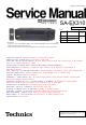 Technics SA-EX310 Service Manual