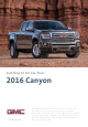 GMC Canyon 2016 Getting To Know Manual