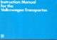 Volkswagen Transporter Instruction Manual