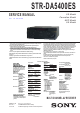 Sony STR-DA5400ES Service Manual