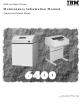 IBM 6400 series Maintenance Manual