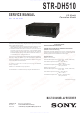 Sony STR-DH510 Service Manual