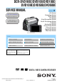 Sony DCR-DVD106E Service Manual