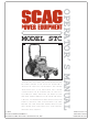 Scag Power Equipment STC48V-19KAI Operator's Manual
