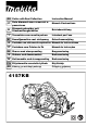 Makita 4157KB Instruction Manual
