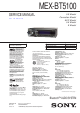Sony MEX-BT5100 Service Manual