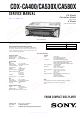 Sony CDX-CA400 Service Manual