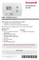 Honeywell PRO TH3110D Installation Manual