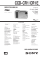 Sony CCD-CR1 Service Manual