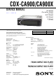 Sony CDX-CA900 Service Manual