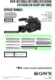 Sony HVR-HD1000J Service Manual