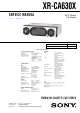 Sony XR-CA630X Service Manual